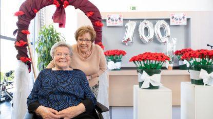 100 klaprozen voor 100-jarige Sien