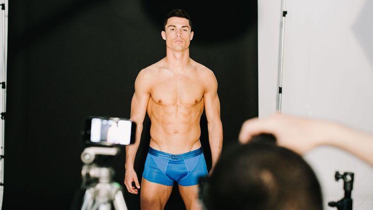 Cristiano Ronaldo in een ondergoedcampagne van CR7.
