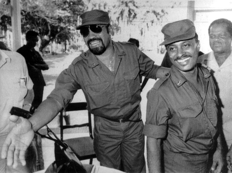 Bouterse in de jaren tachtig. De sportinstructeur in het leger was een van de 16 sergeanten die op 25 februari 1980 de gekozen regering-Arron afzette. Beeld ANP