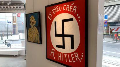 Hakenkruis in kunstgalerij valt niet bij iedereen in de smaak