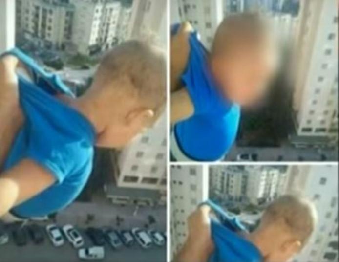 De man beweerde dat internetgebruikers een door hem gemaakte foto van de baby van zijn nichtje op het balkon bewerkten.