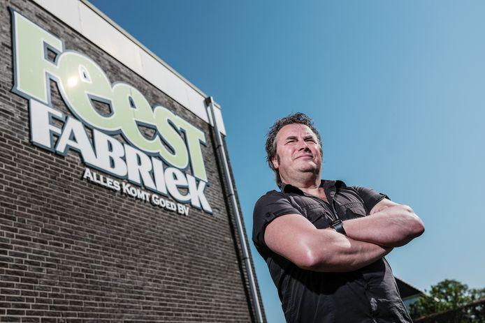 Ronnie Degen bij de Feestfabriek in Hengelo.