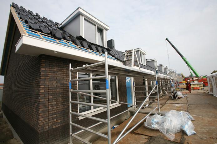 Nieuwbouw in Sint-Maartensdijk-West in 2017.