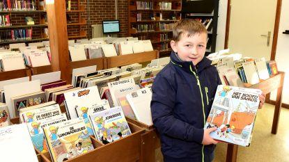 Arne kan kiezen uit meer dan 3.500 strips