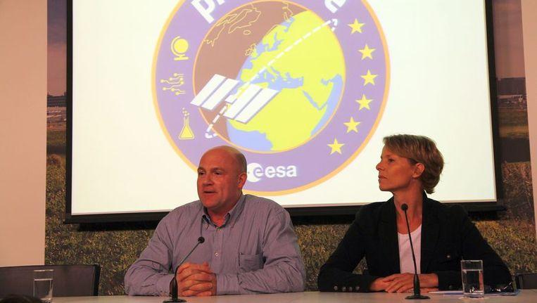 Kuipers tijdens de persconferentie op Schiphol. Beeld Het Parool