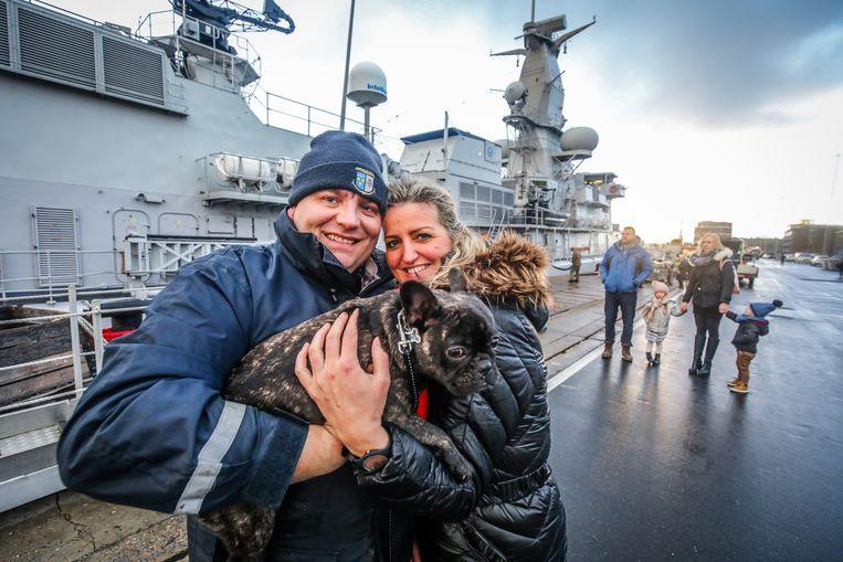 Zeebrugge aankomst fregat F931 Louise-Marie: Mirja Bailliu