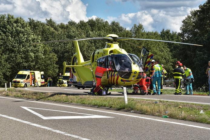 Zwaar ongeval bij afrit Sint Willebrord.
