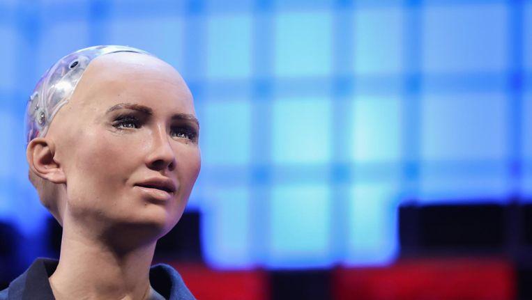 Sophia, de antropoïde robot. Beeld afp