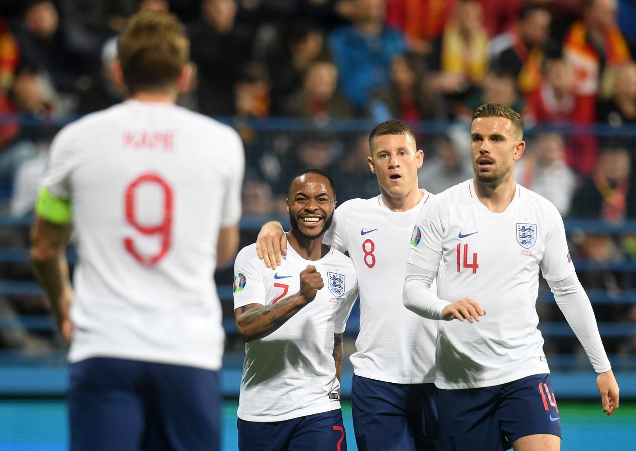 Engeland boekte ondanks een vroege achterstand een ruime zege in Montenegro.