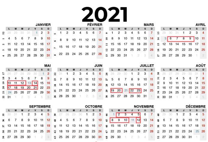 Choisissez bien vos dates de congé.