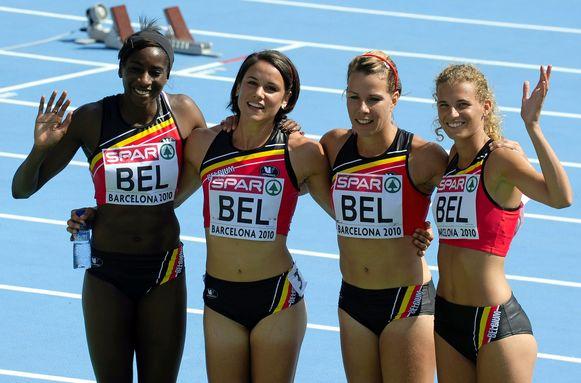 Mariën vergaarde ook naam en faam als lid van de estafetteploeg 4x100 meter