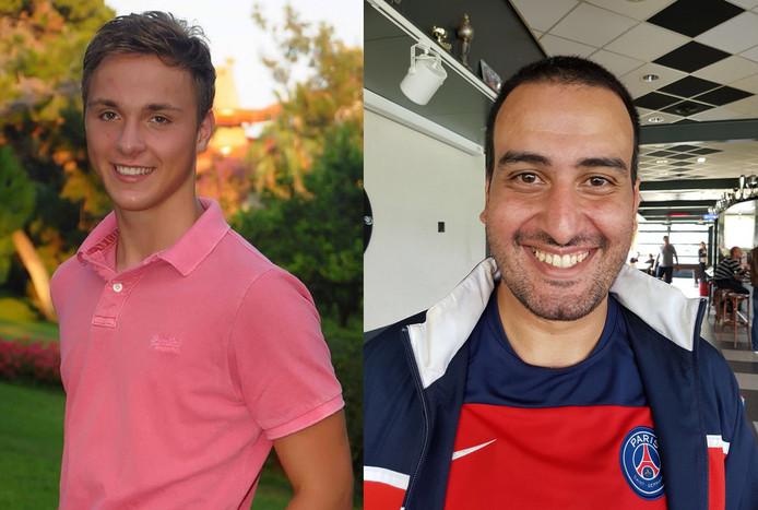 David (l) en Yassine.