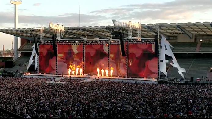 Metallica au stade Roi Baudouin