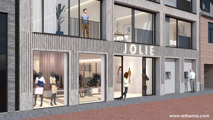 Het plan voor een winkel en appartementen in het voormalige gebouw van de ABN-AMRO is door de politiek goed ontvangen.
