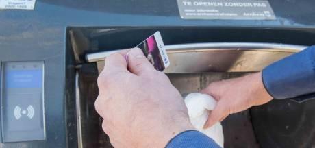 Voorlopig geen prepaidpas bij afvalcontainer in Arnhem