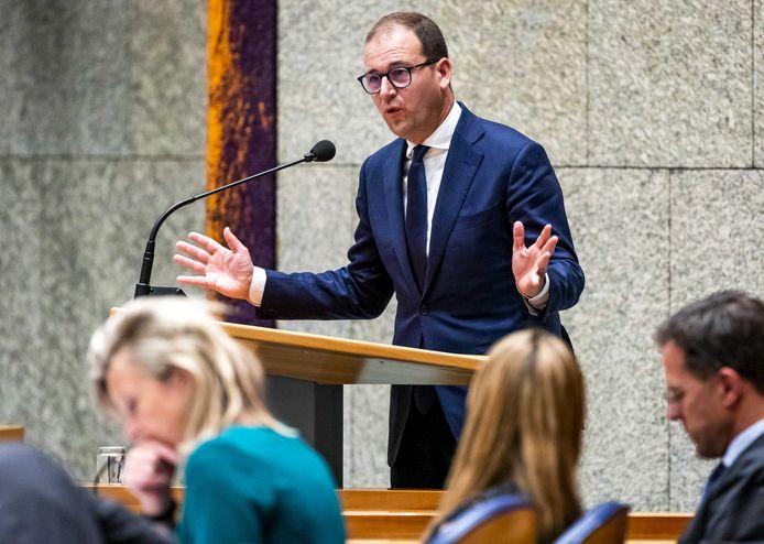 Lodewijk Asscher (PvdA) tijdens het debat gisteravond
