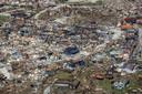Een luchtfoto van de chaos op de Bahama's na orkaan Dorian.