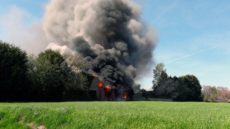 Fabrieksbrand in de Nieuwe Bornestraat in Wilsele (tekst andreas)