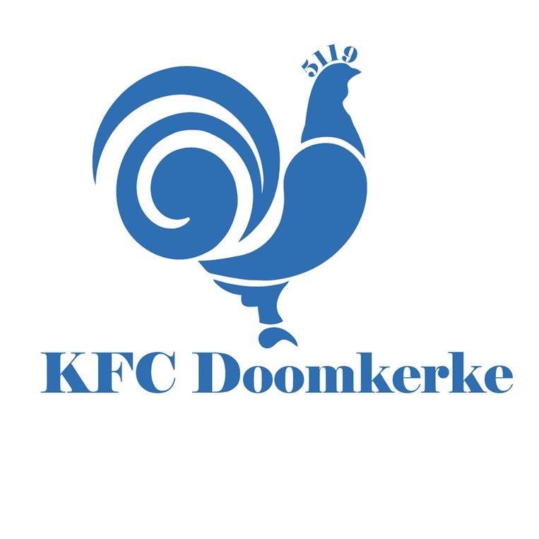 Het nieuwe logo van KFC Doomkerke.
