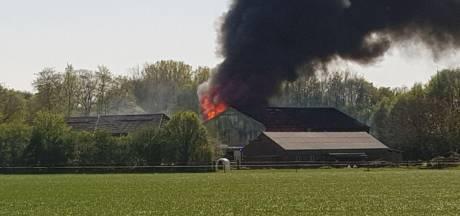 Vlammen sloegen uit dak schuur in Breedenbroek: inmiddels geblust