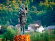 Bronzen beeld Melania Trump onthuld in Slovenië