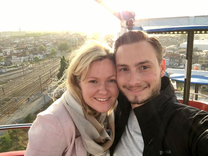 Stef van den Oever en zijn vriendin Ine wonen sinds kort samen in het Antwerpse Schipperskwartier