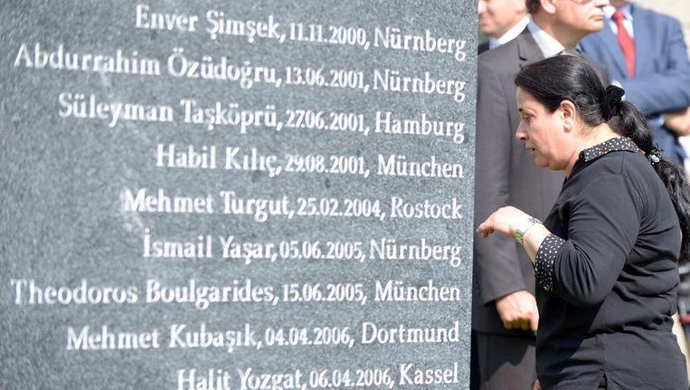 De gedenksteen in Dortmund. Beeld epa