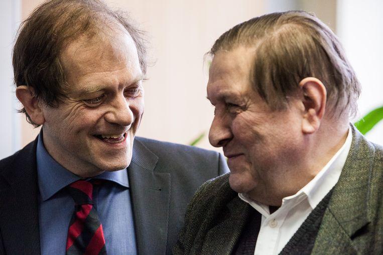 Rik Torfs en Etienne Vermeersch, hier op archiefbeeld uit 2013.