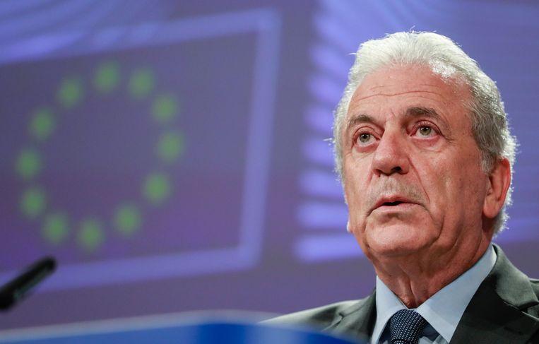 Eurocommissaris voor Migratie Dimitris Avramopoulos