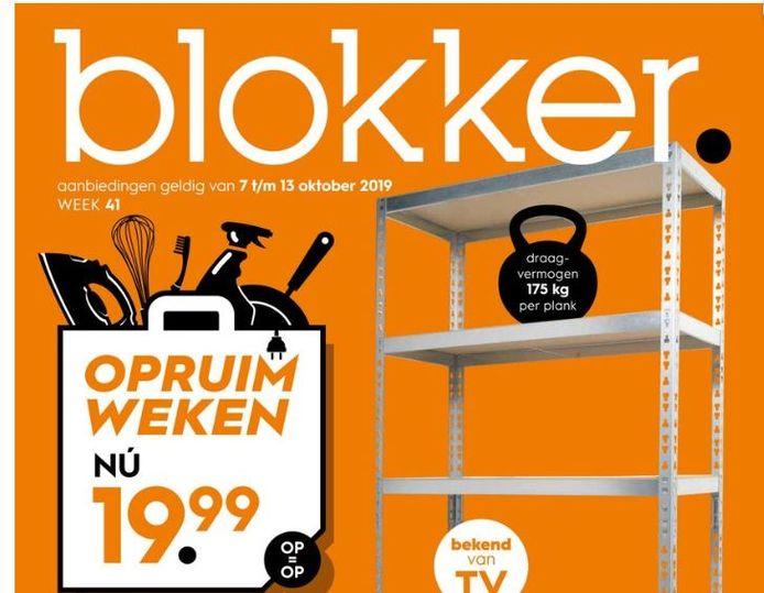 Blokker heeft passend genoeg voor de winkel in Goirle deze week de opruimweken.