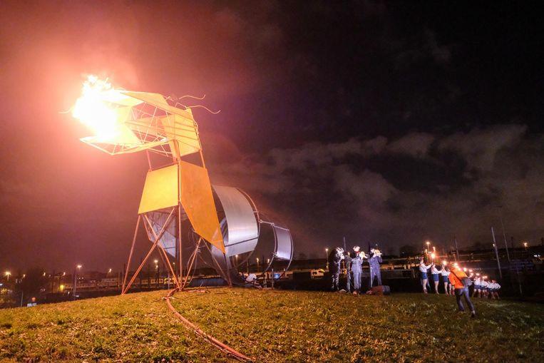 Het tweejaarlijkse festival Wintervuur streek eind 2017 neer op Spoor Oost. Zowel Groen als N-VA willen zulke evenementen blijven ontvangen op de site.