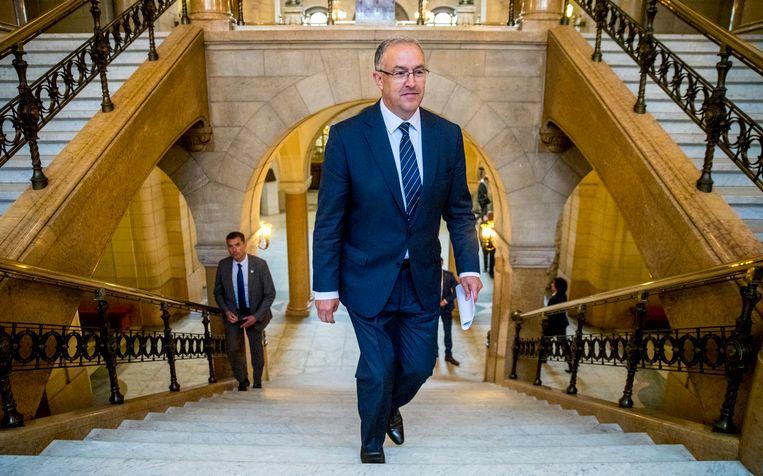 Burgemeester Aboutaleb in het stadhuis van Rotterdam. Beeld ANP