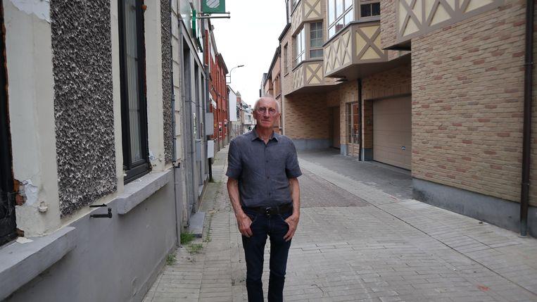 Rolle De Bruyne in de Matthysstraat.