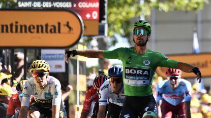 Sagan is Van Aert te snel af in heuvelachtige Tour-etappe, Alaphilippe behoudt gele trui