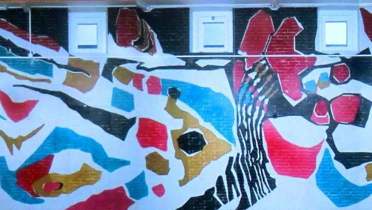 Werk van Frieda Hunziker in de Goeman Borgesiusschool. Beeld Heemschut