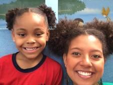 Braziliaanse juf steunt gepest meisje door haar kapsel te kopiëren