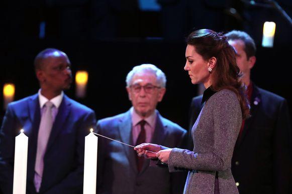 Kate tijdens de Holocaust-herdenking in Westminster.