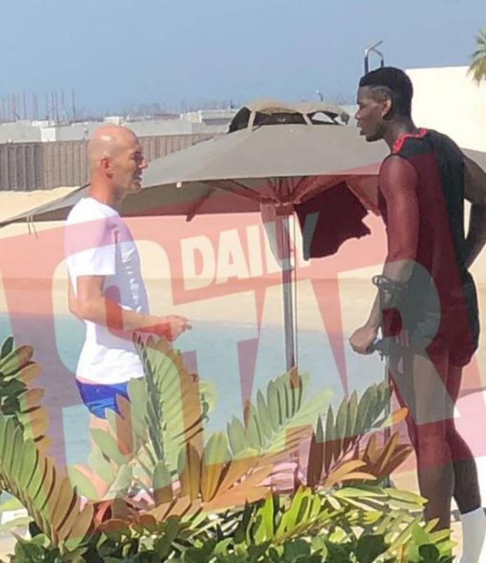 Zinedine Zidane et Paul Pogba à Dubaï