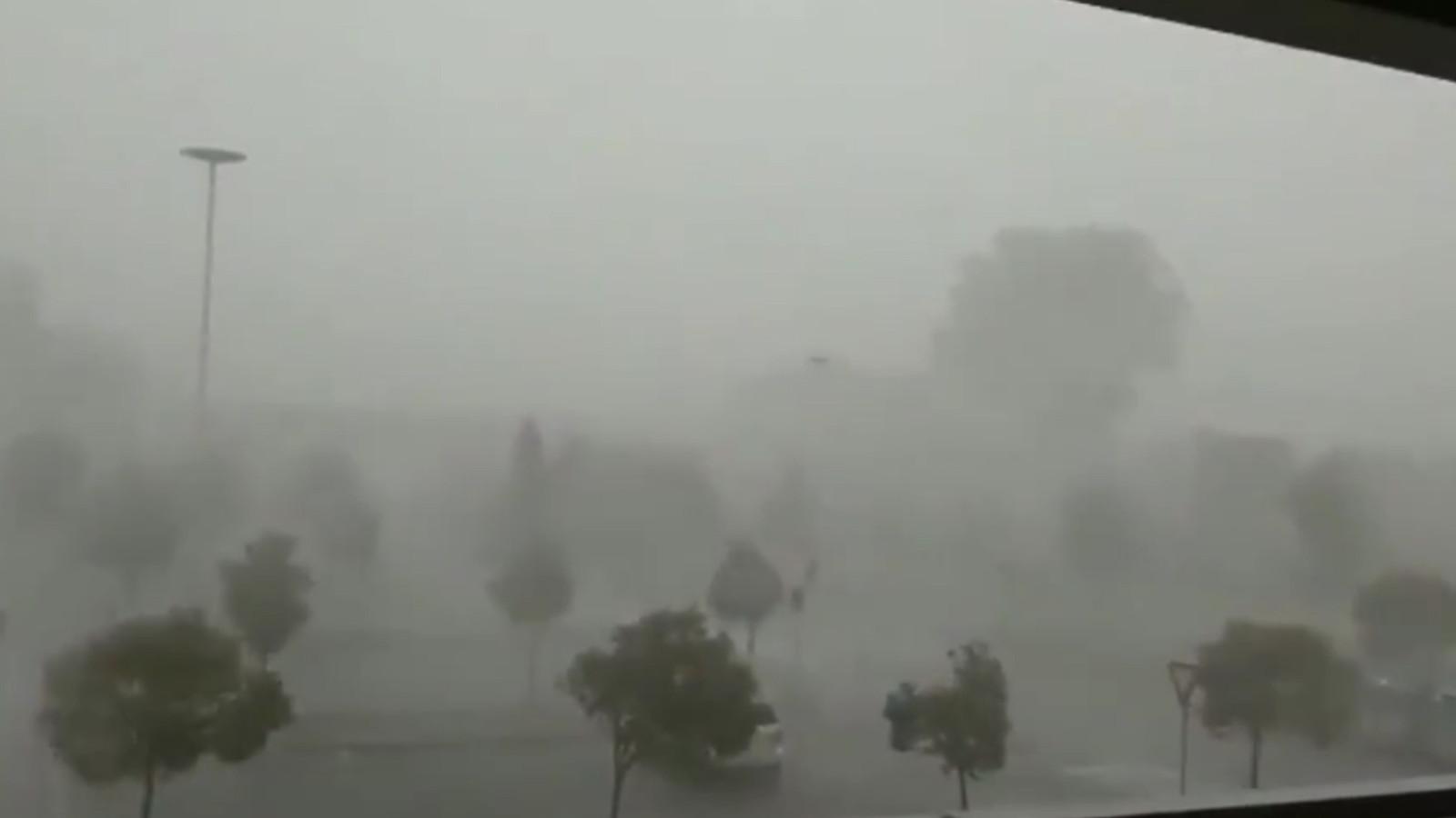 Storm en regen in Italië.