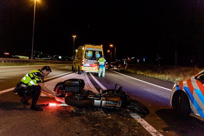 Het ongeluk gebeurde op de A58 bij Tilburg.