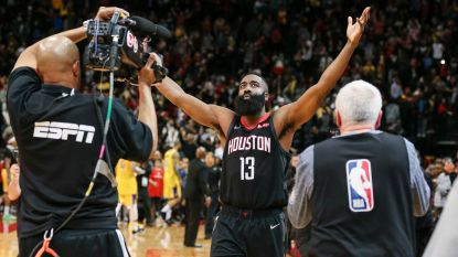 VIDEO. James Harden leidt Houston in NBA naar nipte zege tegen Lakers