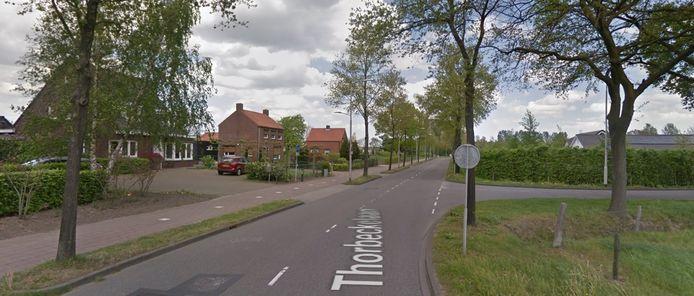 Het gedeelte van de Thorbeckelaan waar Piet de Keijzer over spreekt.