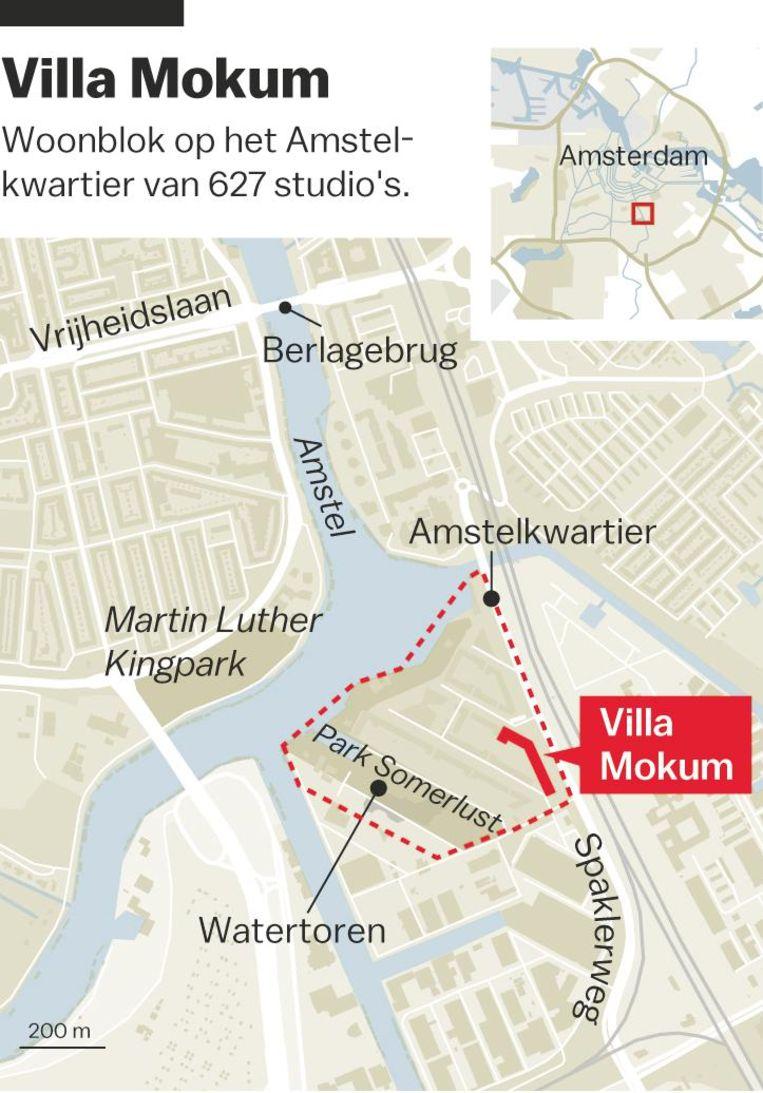 Villa Mokumn in het Amstelkwartier Beeld Laura van der Bijl