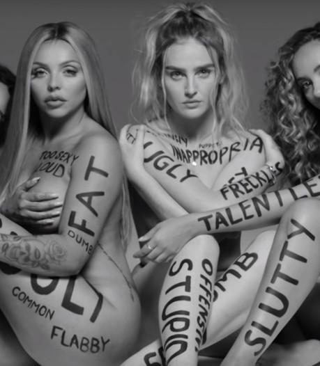 Little Mix scoort met body positive clip: 'Heb je kleine borsten, houd ervan'