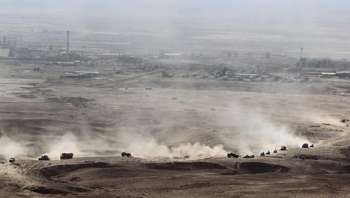 Iraakse veiligheidstroepen in het noorden van Irak. Het leger wordt daar getraind door Turkije.