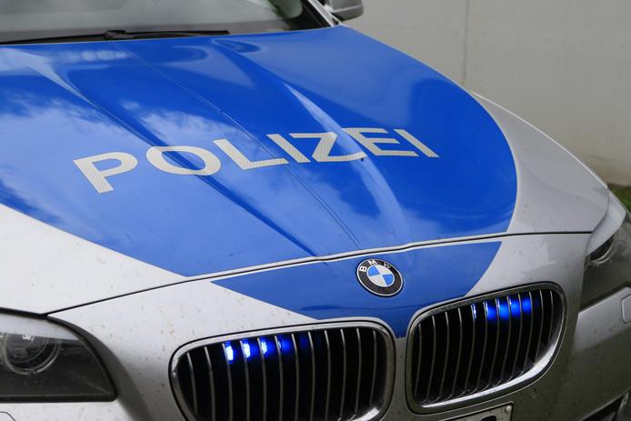 Een auto van de Duitse Politie