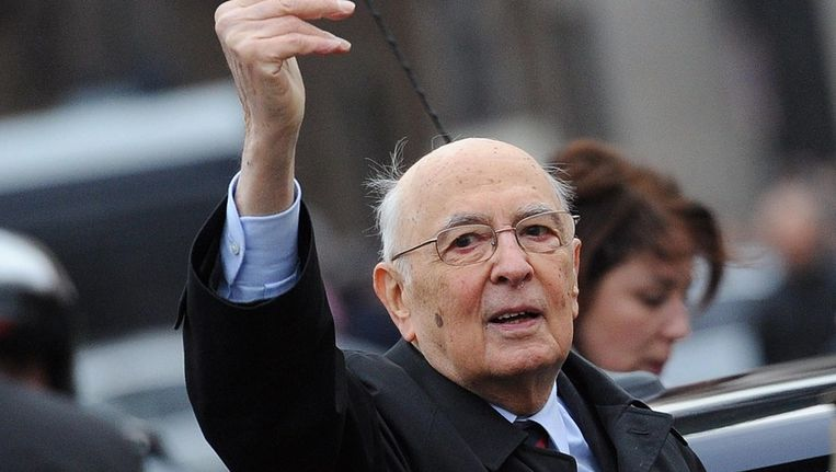 Italiaanse president Giogio Napolitano Beeld epa