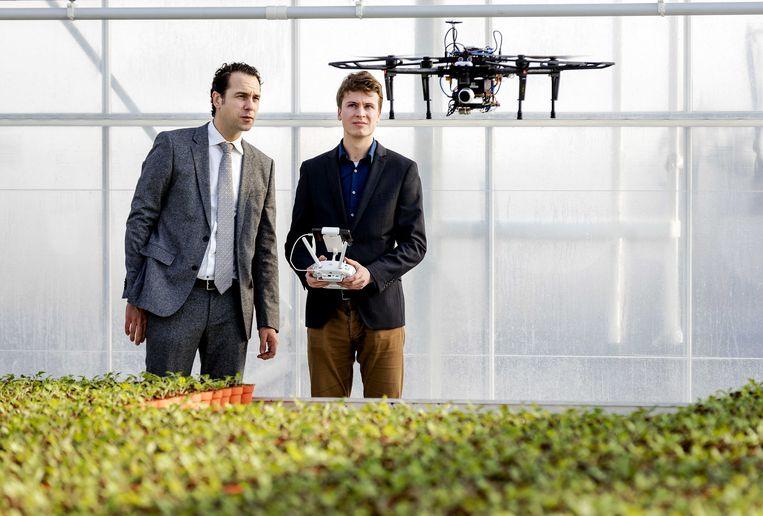 Het 5G-net is snel genoeg voor bijvoorbeeld de aansturing van een drone. Beeld ANP