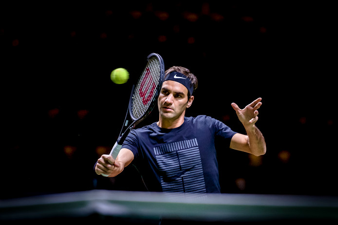 Federer in Rotterdam.