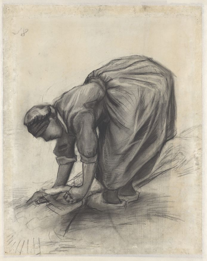 Vincent van Gogh, Schovenbindende boerin. 1885. Collectie Kröller-Müller Museum, Otterlo.